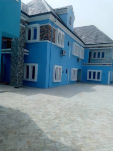 For Sale- An exquisite finished 5 bedroom fully detached duplex with 1 room self-contained service quarters and 2 storey office complex building in front located in a serene neighbourhood in Port Harcourt.