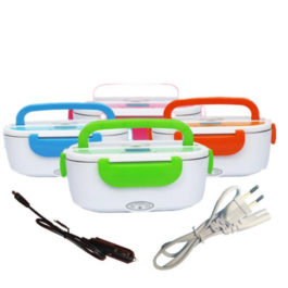 12V/ 110V 220V Dual Use Home Car Heating Lunch Box Thermostat Food Warmer Container Mini Rice Cooker EU US Plug