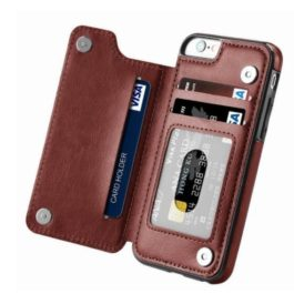 Luxury Flip Leather Wallet Case For iPhone 5S SE 5 Funda Card Slots Phone Bag Cover For iPhone 7 6S 8 X Xr XS Max Coque