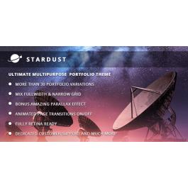 Stardust – Multi-Purpose Portfolio WordPress Theme