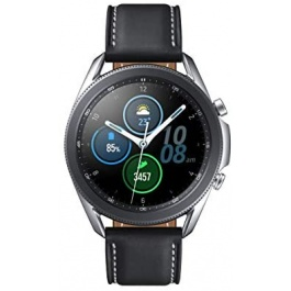 SAMSUNG Galaxy Watch 3 (45mm, GPS, Bluetooth) Smart Watch with Advanced Health Monitoring, Fitness Tracking, and Long lasting Battery – Mystic Silver (US Version)