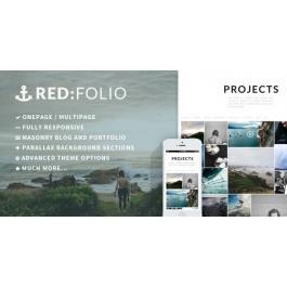 Redfolio – a Responsive OnePage WordPress Theme