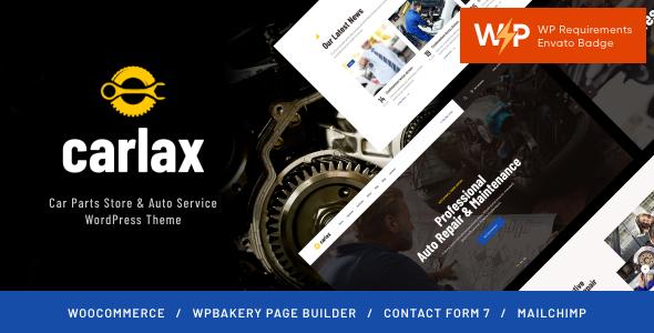 Carlax | Car Parts Store & Auto Service WordPress Theme