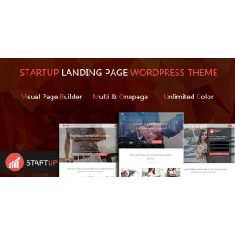 Startups Multi Concept Landing Page WordPress Theme