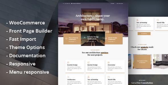 Glauss – Architecture & Creative Design WordPress Theme