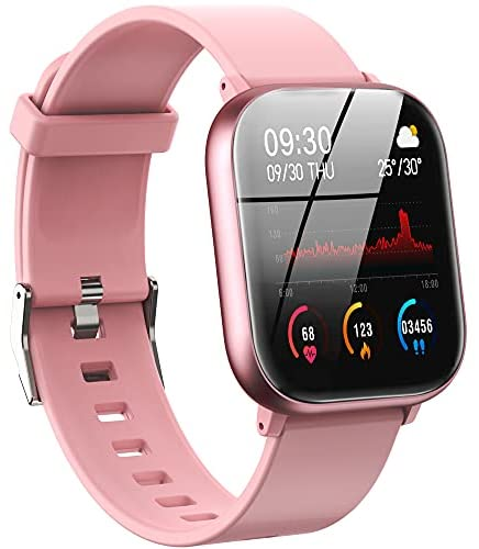 Smart Watch, PUBU Smart Watches for Men Women Advanced Waterproof Fitness Tracker Blood Pressure & Heart Rate Monitor, SNS Text Messages, Step Counter Smart Watch for iPhone Samsung Android Phones