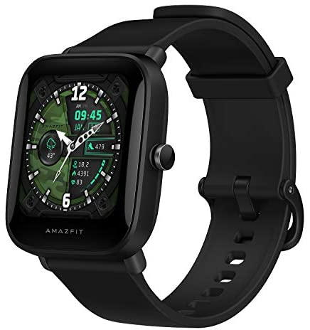 Amazfit Bip U Pro Smart Watch with Alexa & GPS Built-In, 9-Day Battery Life, Fitness Tracker, Blood Oxygen, Heart Rate, Sleep, Stress Monitor, 60+ Sport Modes, 1.43″HD Display, Water Resistant (Black)