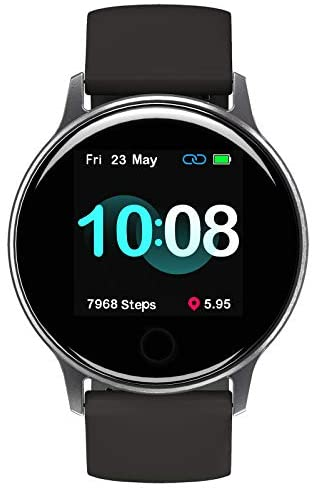 UMIDIGI Smart Watch for Android Phones Compatible with Samsung iPhone, Sleep Tracker Waterproof Smartwatch with Heart Rate Monitor, Fitness Tracker for Women and Men-Uwatch 2S