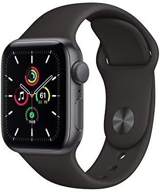 New Apple Watch SE (GPS, 40mm) – Space Gray Aluminum Case with Black Sport Band