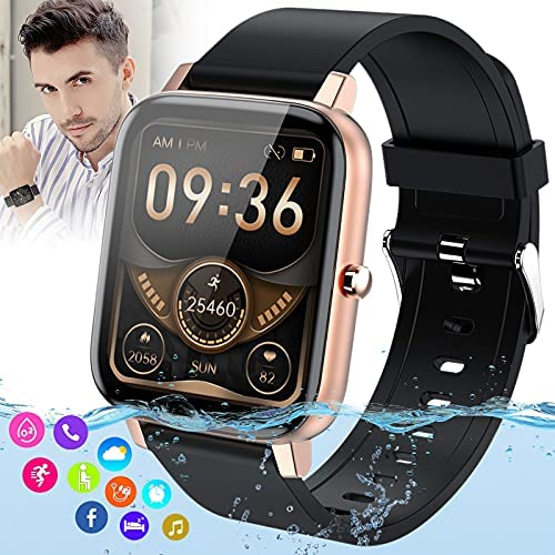 Burxoe Smart Watch,Bluetooth Smartwatch for Android Phones,Ip67 Waterproof Fitness Watch with Blood Pressure Heart Rate Monitor Activity Tracker with Pedometer Compatiable for Samsung iOS Women Men