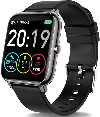 Rinsmola 2021 Smart Watch for Android/iOS Phones, 1.4″ Full Touch Screen Fitness Tracker, Smartwatch for Men Women Heart Rate Monitor, Step Counter, Waterproof Fitness Watch Compatible iPhone Samsung