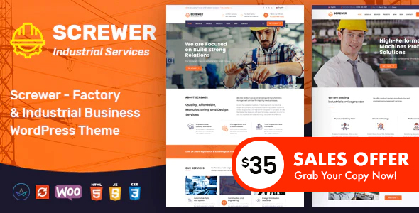 Screwer – Factory and Industrial WordPress Theme