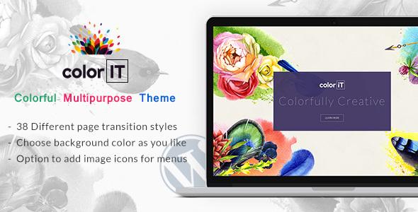 ColorFolio – Freelance Designer WordPress Theme