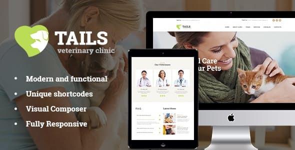 Tails   Veterinary Clinic, Pet Care & Animal WordPress Theme + Shop