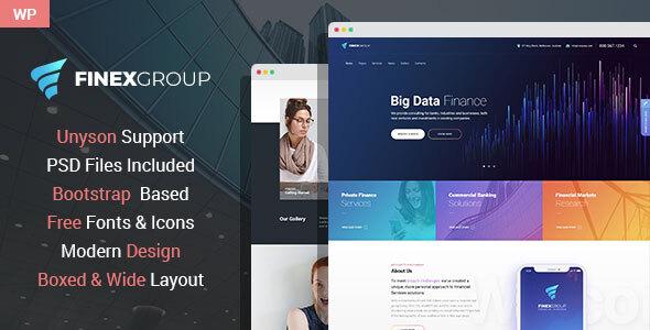 FinExGroup – Finance And Business WordPress Theme