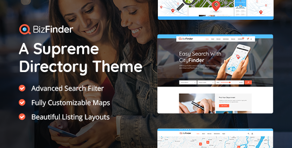 BizFinder – Business Directory Theme