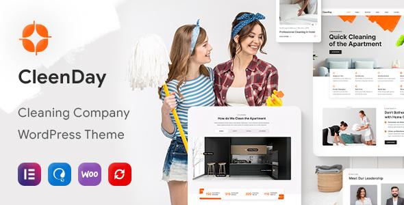 CleenDay – Cleaning Company WordPress Theme