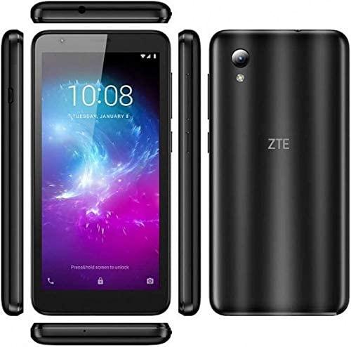 ZTE Blade A3 Lite 5.0″ 18:9 Display, 8MP Camera Quad-Core Android 9.0 Go (LTE USA Latin Caribbean) 4G LTE GSM Unlocked Smartphone – International Version (Black, 32GB)
