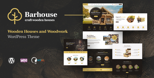 Barhouse – Wooden House Construction and Woodworks WordPress Theme