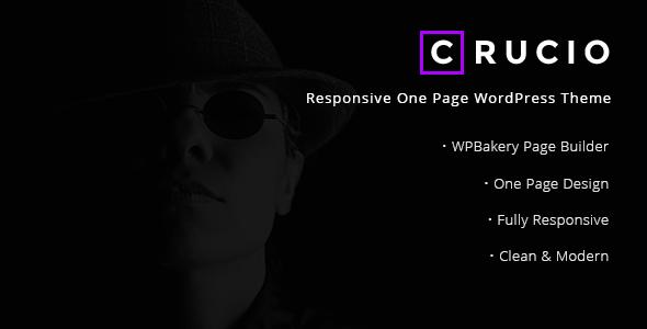 Crucio – Responsive One Page WordPress Theme