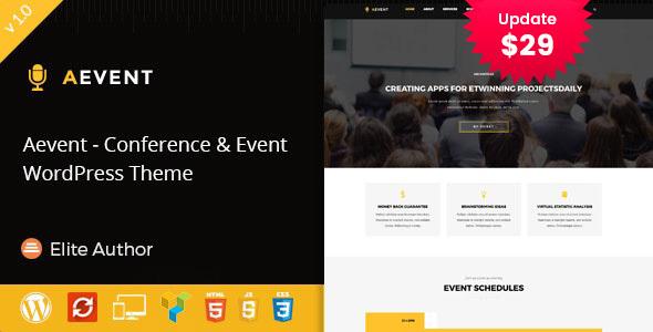 Aevent – Conference & Event WordPress Theme
