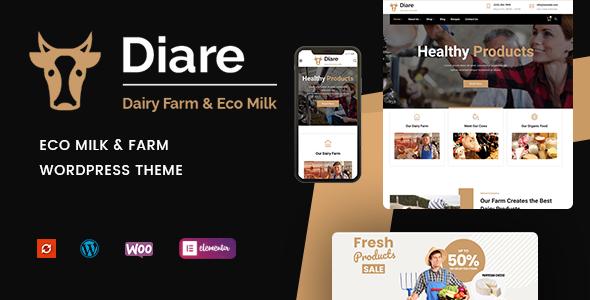 Diare – Eco Milk & Diary Farm WordPress Theme