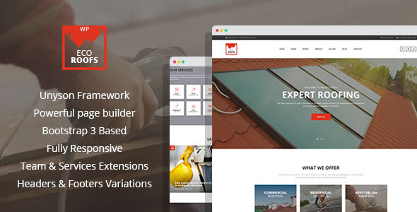 Eco Roofs – Housetop Repair & Renovation WordPress Theme