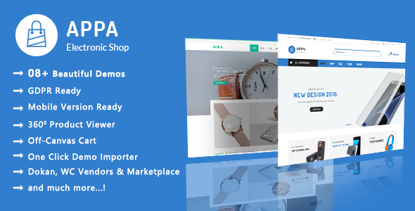 Appa   Electronics & Watches WooCommerce WordPress Theme